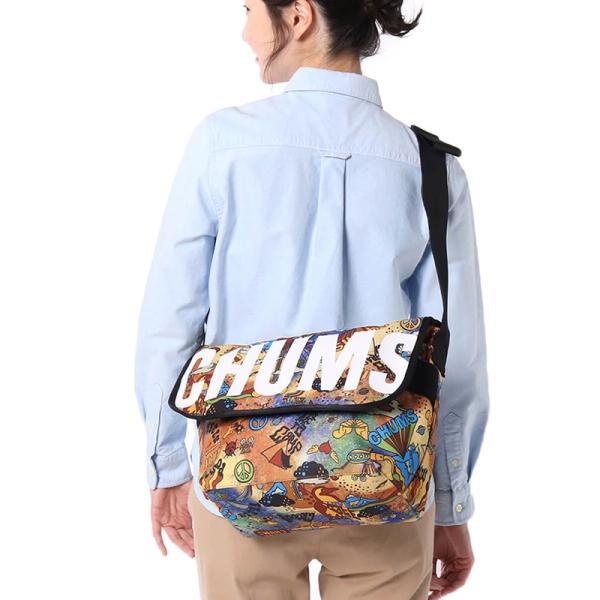 チャムス CHUMS エコ ロゴメッセンジャーバッグ|2m50cm|08