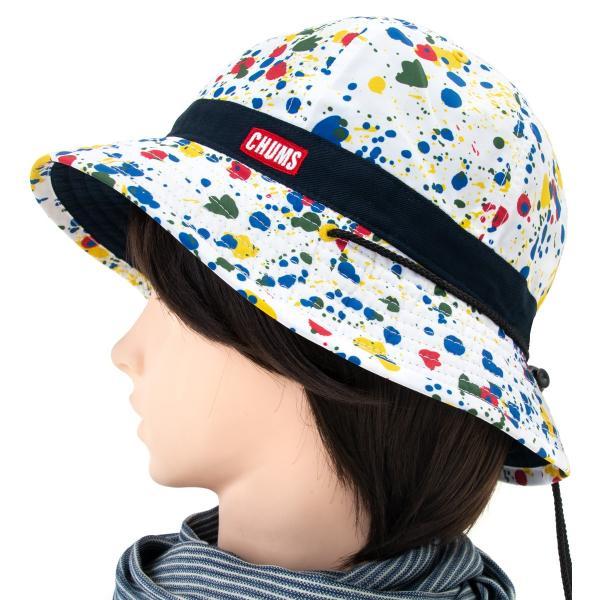 チャムス CHUMS 帽子 リバーシブル プリント ハット|2m50cm|11