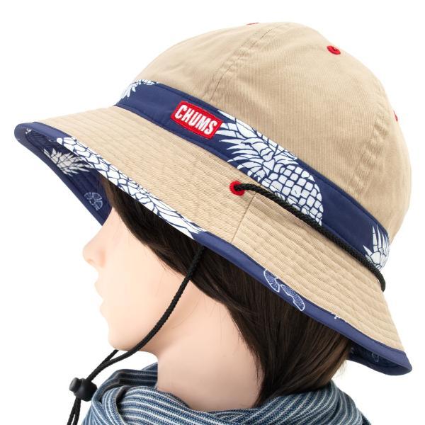 チャムス CHUMS 帽子 リバーシブル プリント ハット|2m50cm|08