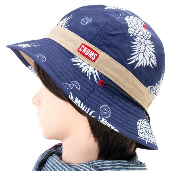 チャムス CHUMS 帽子 リバーシブル プリント ハット|2m50cm|09