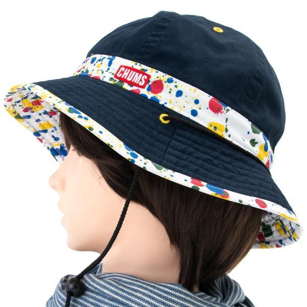 チャムス CHUMS 帽子 リバーシブル プリント ハット|2m50cm|10
