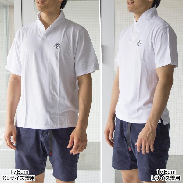 CHUMS チャムス Wappen Shawl Polo Shirt ワッペン ショール ポロシャツ|2m50cm|03