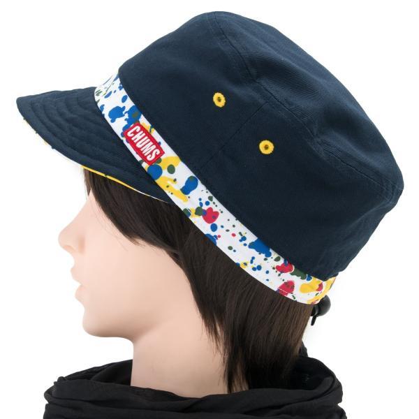 チャムス CHUMS 帽子リバーシブル プリント キャップ Reversible Print Cap|2m50cm|11