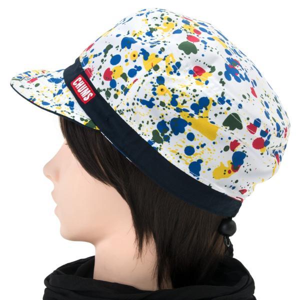 チャムス CHUMS 帽子リバーシブル プリント キャップ Reversible Print Cap|2m50cm|12