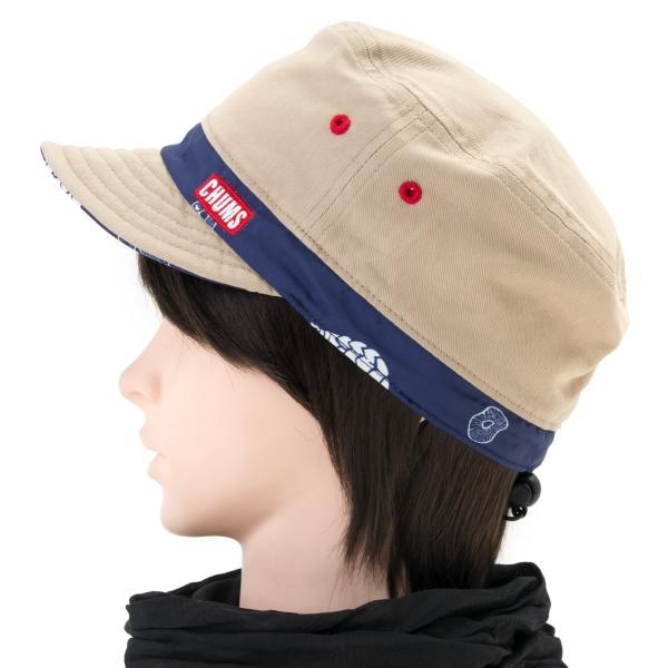 チャムス CHUMS 帽子リバーシブル プリント キャップ Reversible Print Cap|2m50cm|09