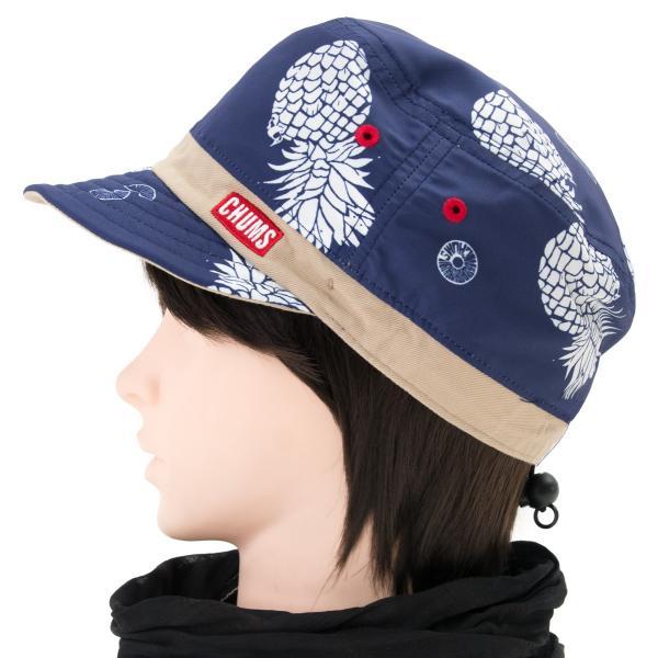 チャムス CHUMS 帽子リバーシブル プリント キャップ Reversible Print Cap|2m50cm|10