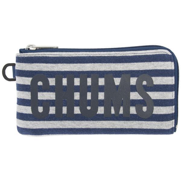 チャムス CHUMS 財布 ロングスクエア ウォレット スウェット 2m50cm 12