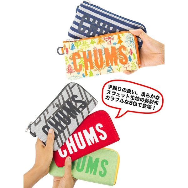 チャムス CHUMS 財布 ロングスクエア ウォレット スウェット 2m50cm 05