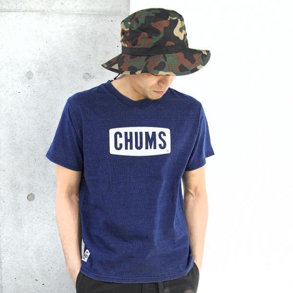 CHUMS チャムス Tシャツ CHUMS Logo T-Shirt Indigo|2m50cm|02