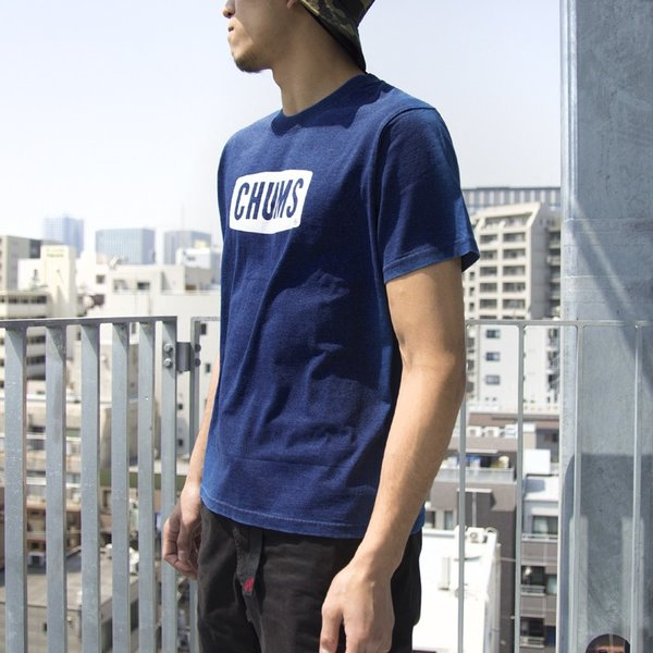 CHUMS チャムス Tシャツ CHUMS Logo T-Shirt Indigo|2m50cm|04