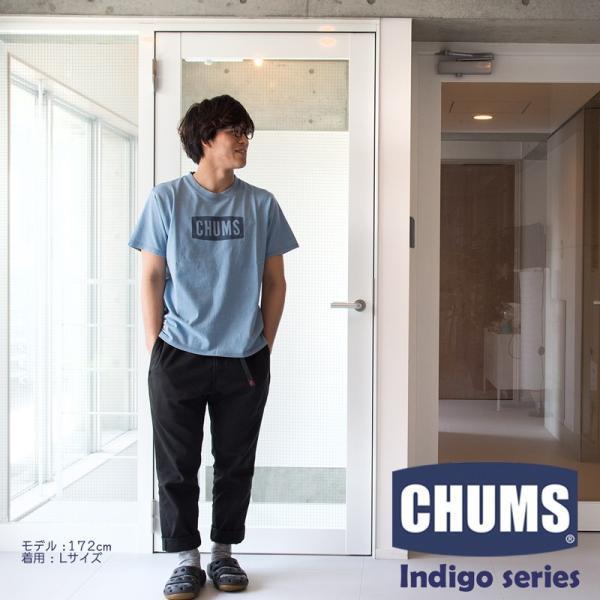 CHUMS チャムス Tシャツ CHUMS Logo T-Shirt Indigo|2m50cm|05