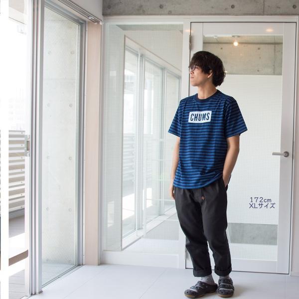 CHUMS チャムス Tシャツ CHUMS Logo T-Shirt Indigo|2m50cm|06