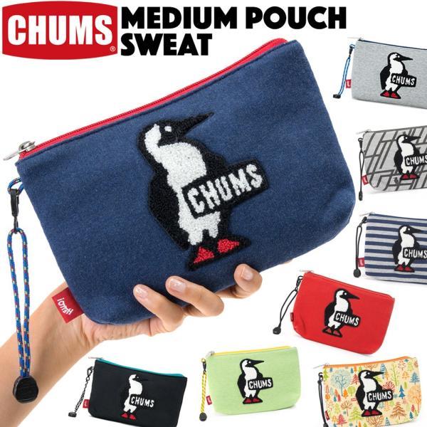 チャムス CHUMS ポーチ Medium Pouch Sweat ミディアムポーチ スウェット|2m50cm