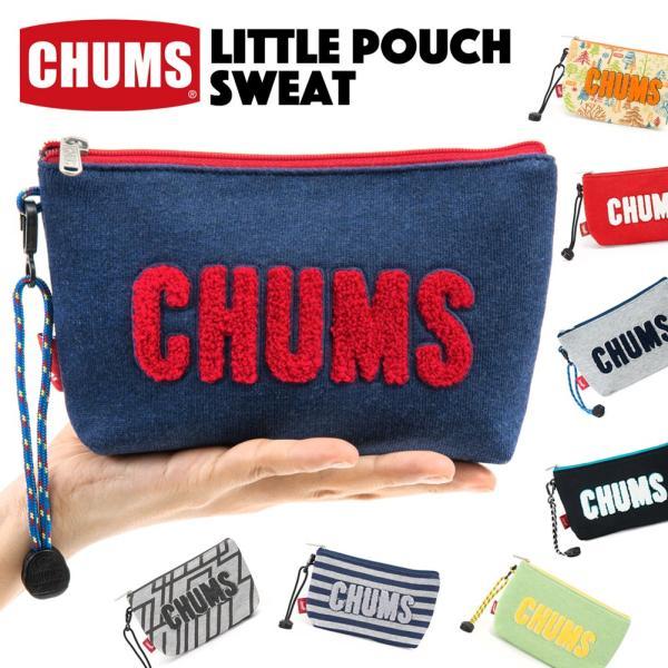 チャムス CHUMS ポーチ Little Pouch Sweat リトルポーチ スウェット|2m50cm