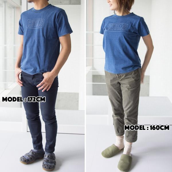 CHUMS チャムス Tシャツ Stitched Logo T-Shirt Indigo|2m50cm|02
