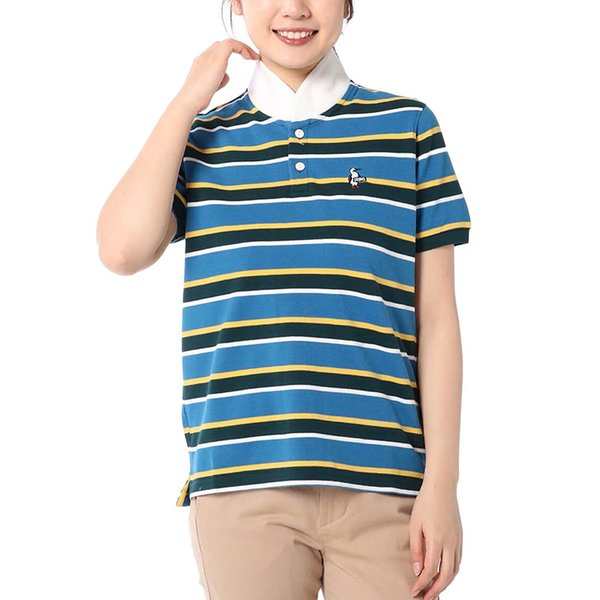 CHUMS チャムス Booby Border Shawl Polo Shirt ブービー ボーダー ショール ポロシャツ|2m50cm|04