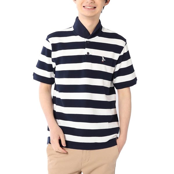 CHUMS チャムス Booby Border Shawl Polo Shirt ブービー ボーダー ショール ポロシャツ|2m50cm|05