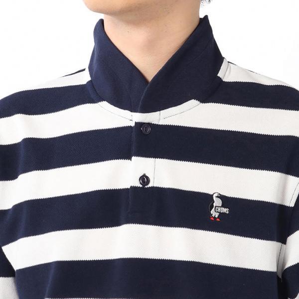 CHUMS チャムス Booby Border Shawl Polo Shirt ブービー ボーダー ショール ポロシャツ|2m50cm|08