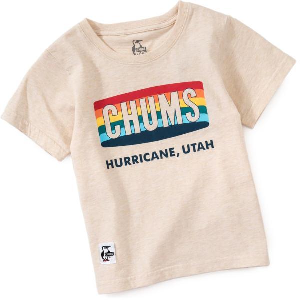 CHUMS チャムス キッズ Tシャツ Kid's Rainbow Logo T-Shirt|2m50cm|06