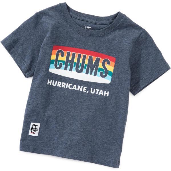 CHUMS チャムス キッズ Tシャツ Kid's Rainbow Logo T-Shirt|2m50cm|07