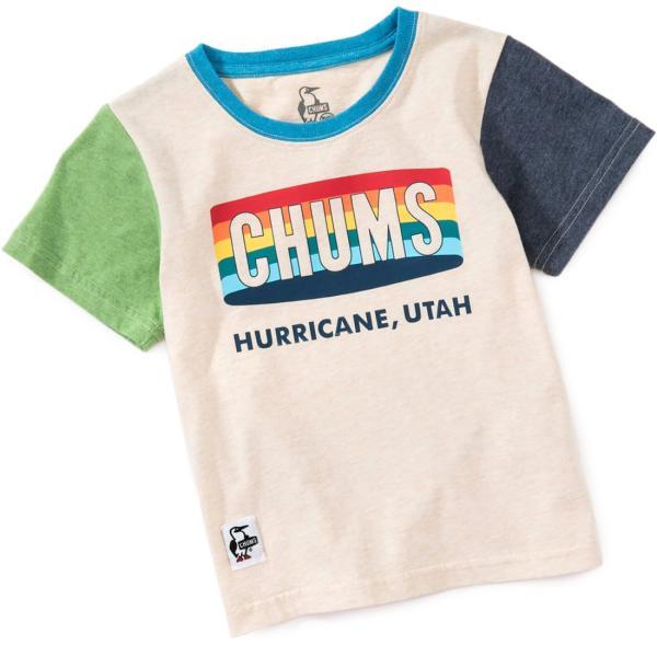CHUMS チャムス キッズ Tシャツ Kid's Rainbow Logo T-Shirt|2m50cm|08