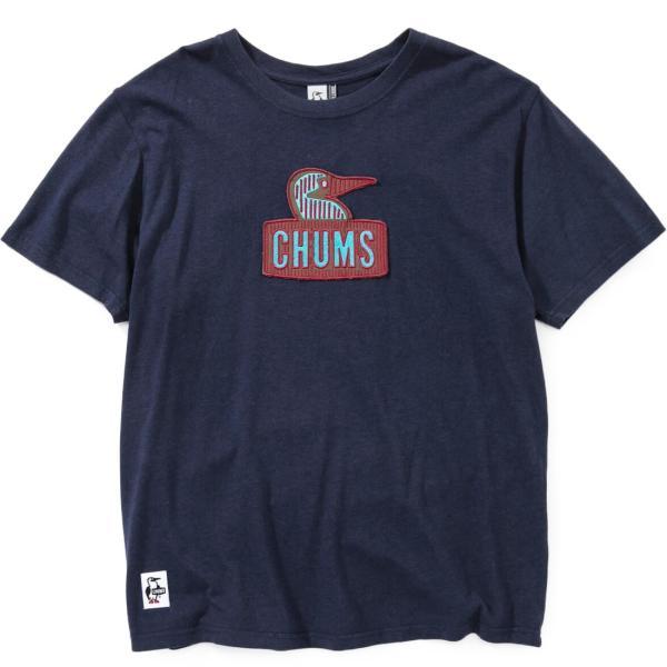 チャムス CHUMS Booby Embroidery T-Shirt ブービーエンブロイダリーTシャツ|2m50cm|10