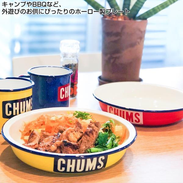 CHUMS チャムス ボートロゴ エナメル ディープ プレート|2m50cm|03