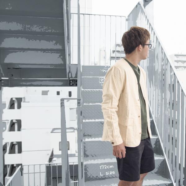 CHUMS チャムス No coller Nep Shirt ノーカラーネップシャツ|2m50cm|02