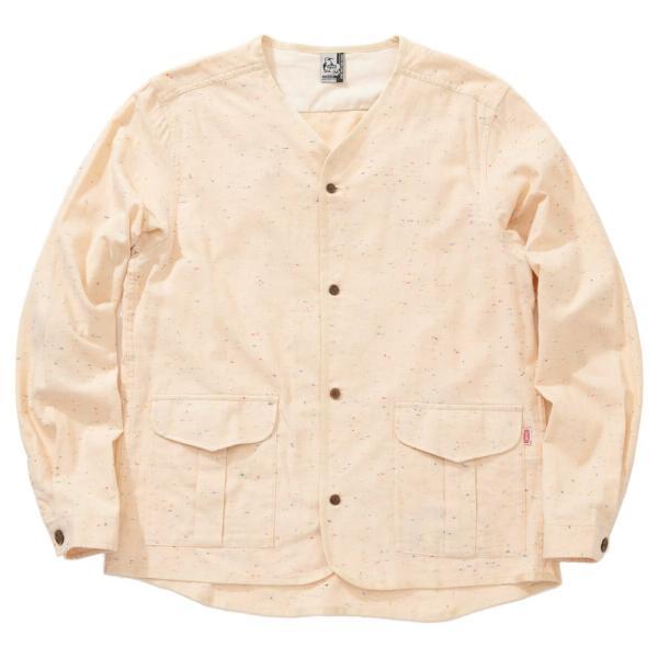 CHUMS チャムス No coller Nep Shirt ノーカラーネップシャツ|2m50cm|11
