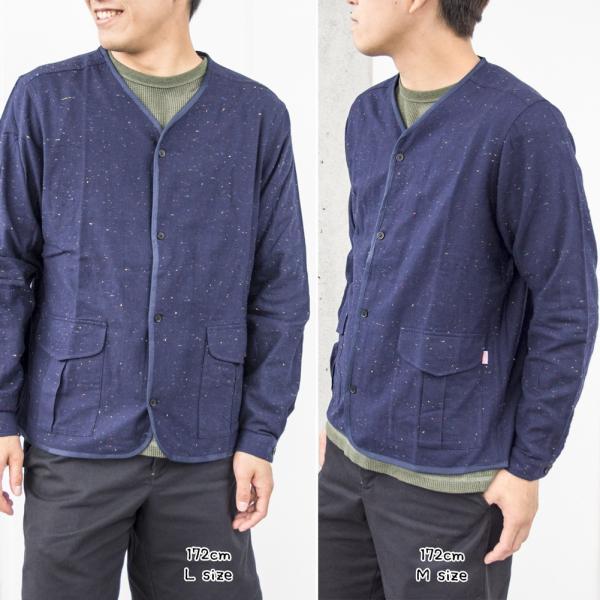 CHUMS チャムス No coller Nep Shirt ノーカラーネップシャツ|2m50cm|04