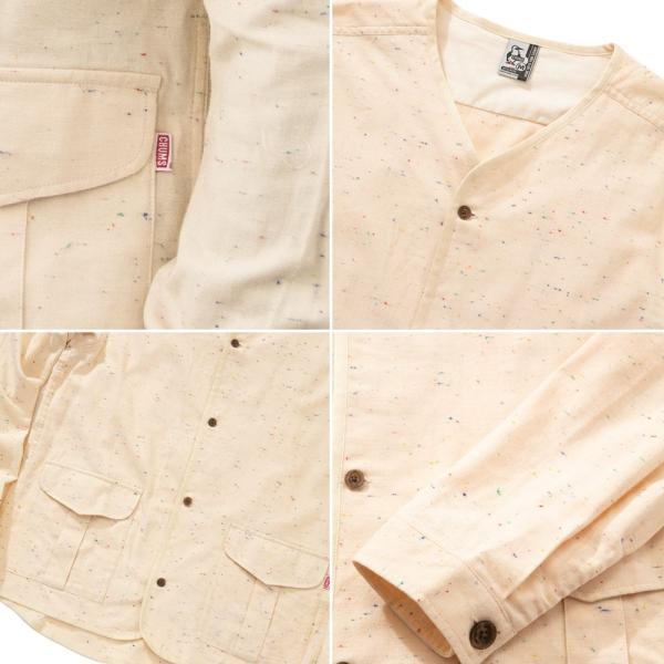 CHUMS チャムス No coller Nep Shirt ノーカラーネップシャツ|2m50cm|07