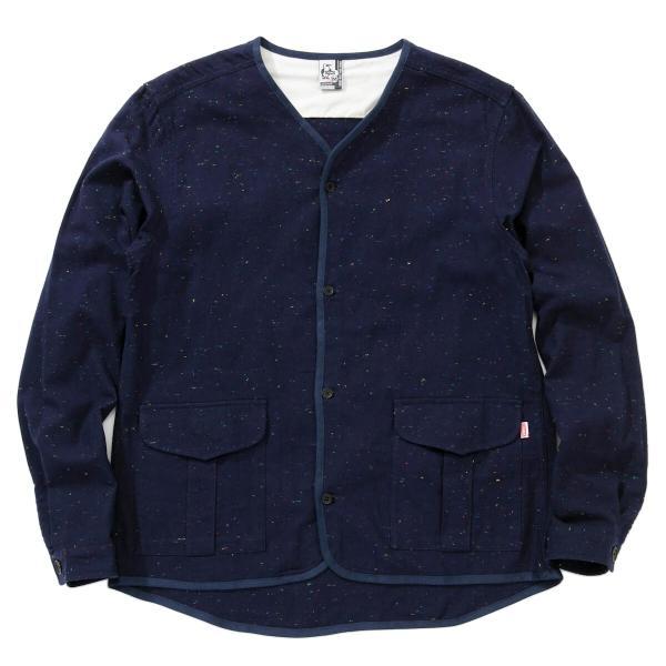 CHUMS チャムス No coller Nep Shirt ノーカラーネップシャツ|2m50cm|09