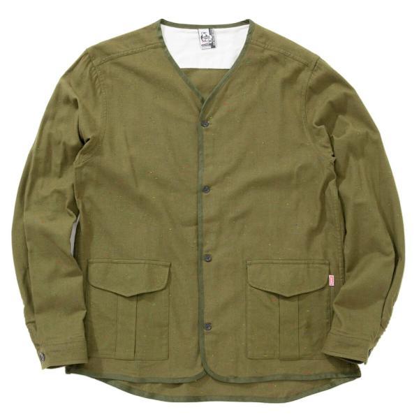 CHUMS チャムス No coller Nep Shirt ノーカラーネップシャツ|2m50cm|10