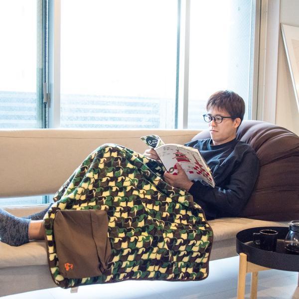 CHUMS チャムス Fleece Elmo Packable Blanket フリース エルモ パッカブル ブランケット|2m50cm|02