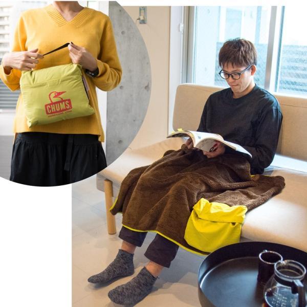 CHUMS チャムス Fleece Elmo Packable Blanket フリース エルモ パッカブル ブランケット|2m50cm|04