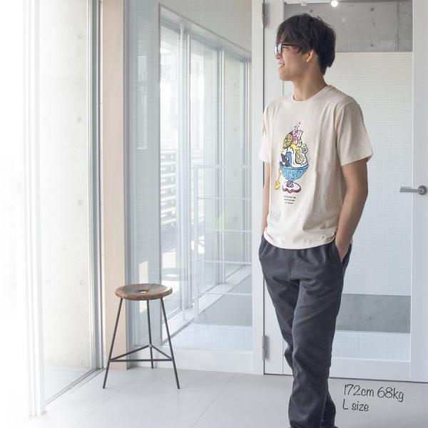 Tシャツ CHUMS Shaved Ice T-Shirt チャムス シェイブドアイス|2m50cm|03