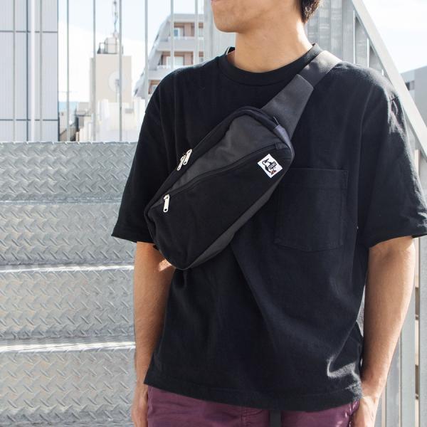 CHUMS チャムス ボディバッグ Square Waist Bag スクエア ウエストバッグ スウェット ナイロン|2m50cm|04