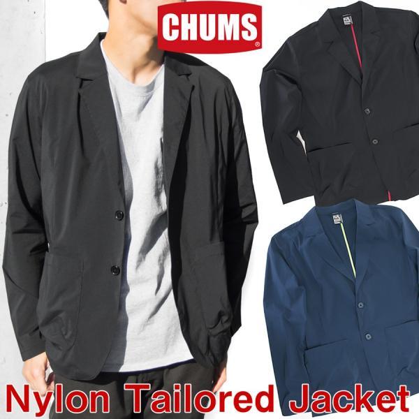 ジャケット CHUMS チャムス Nylon Tailored Jacket ナイロン テーラードジャケット 2m50cm