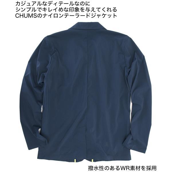ジャケット CHUMS チャムス Nylon Tailored Jacket ナイロン テーラードジャケット 2m50cm 05