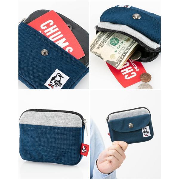 CHUMS チャムス 財布 Pocket Size Wallet Sweat Nylon ポケットサイズ ウォレット スウェットナイロン|2m50cm|13