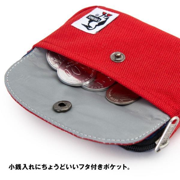 CHUMS チャムス 財布 Pocket Size Wallet Sweat Nylon ポケットサイズ ウォレット スウェットナイロン|2m50cm|06