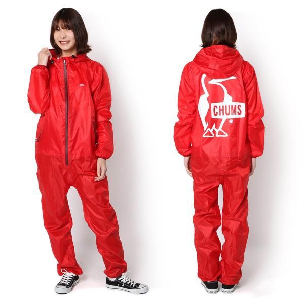 CHUMS チャムス ブービーロゴ レインスーツ Booby Logo Rain Suit|2m50cm|04