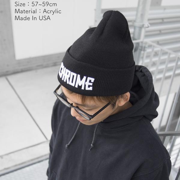 CHROME クローム LOGO KNIT CAP ロゴ ニット キャップ|2m50cm|05