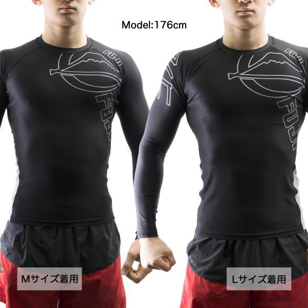 FUJI ラッシュガード 長袖 FUJI Inverted Long Sleeve Rashguard Black|2m50cm|02