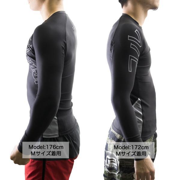 FUJI ラッシュガード 長袖 FUJI Inverted Long Sleeve Rashguard Black|2m50cm|03