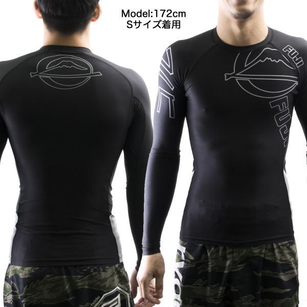 FUJI ラッシュガード 長袖 FUJI Inverted Long Sleeve Rashguard Black|2m50cm|04