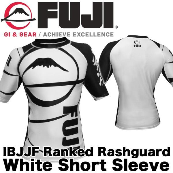 FUJI ラッシュガード Sports Freestyle IBJJF Ranked Rashguard White Short Sleeve|2m50cm