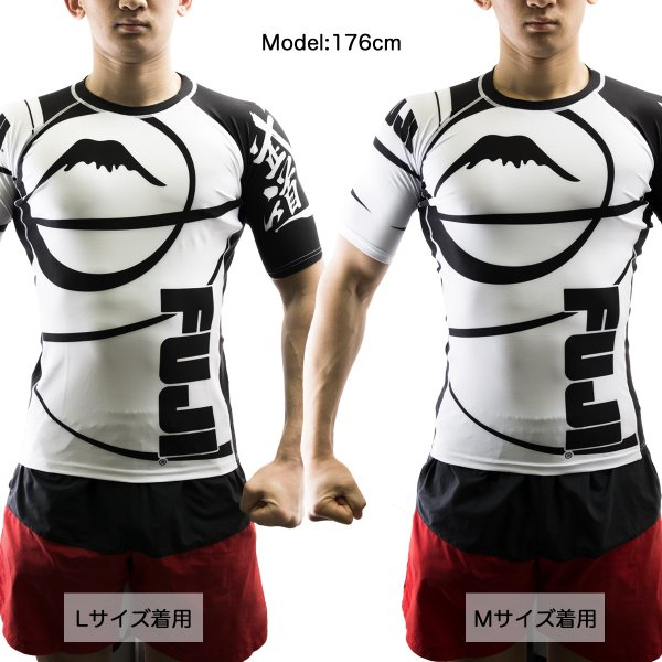 FUJI ラッシュガード Sports Freestyle IBJJF Ranked Rashguard White Short Sleeve|2m50cm|02