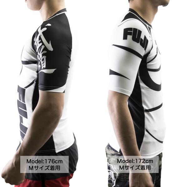 FUJI ラッシュガード Sports Freestyle IBJJF Ranked Rashguard White Short Sleeve|2m50cm|03