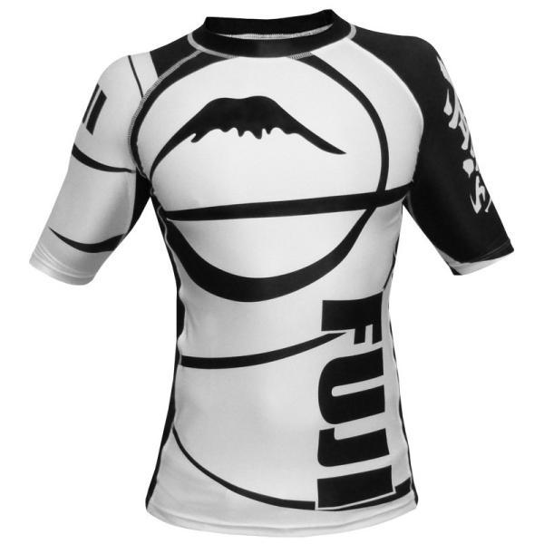 FUJI ラッシュガード Sports Freestyle IBJJF Ranked Rashguard White Short Sleeve|2m50cm|05
